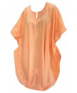 Women Embroidered Swimwear Beach Orange