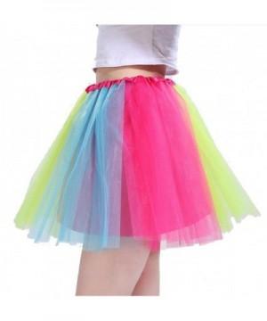 Beluring Womens Multicolor Rainbow Rockabilly
