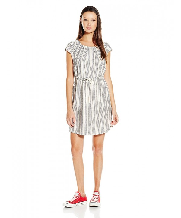 Jolt Womens Linen Stripe Dress