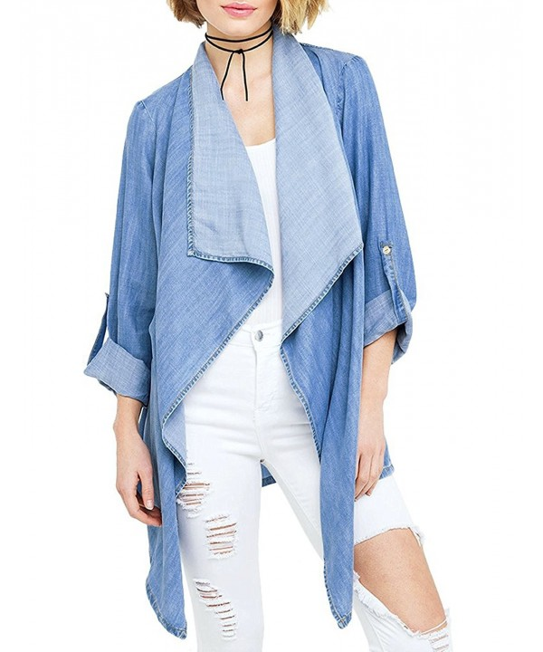 HaoDuoYi Womens Casual Waterfall Cardigan