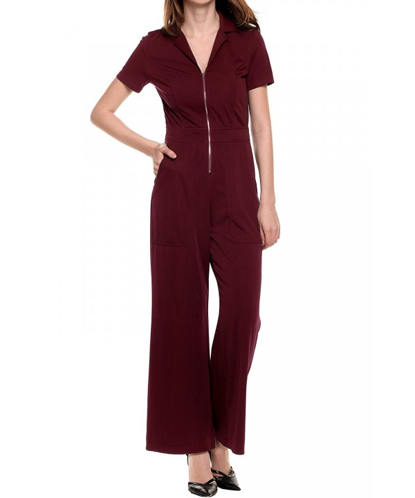 Meaneor Womens Playsuit Jumpsuit Pocket