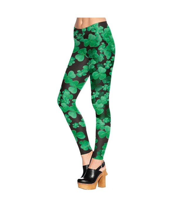 Leggings Shamrocks Printed Graphic Fitness