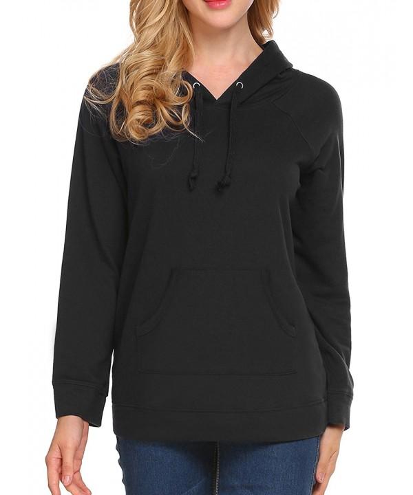 Pullover Hoodie Sleeve Sweater Womens