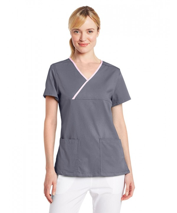 Urbane Womens Y Placket Scrub Steel