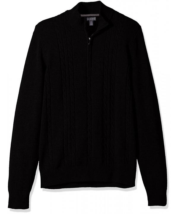 Van Heusen Cable Sweater Black