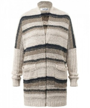 Cardigan Sweater FADBBW Pockets Striped