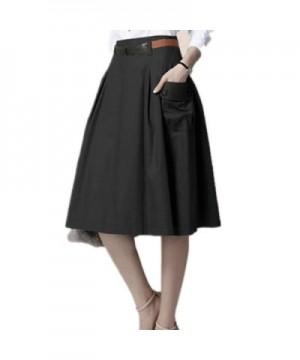 Taiduosheng Womens Double Pocket Pleated