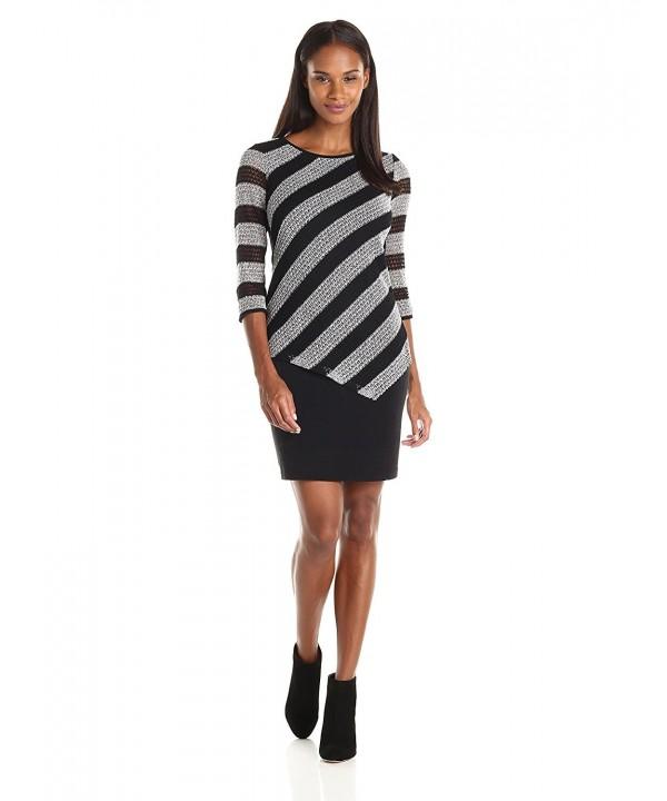 Sandra Darren Womens Sleeve Dress