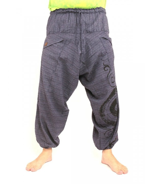 Harem Sarouel Pants Swirl Cotton