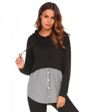Zeagoo Womens Checkered Hoodie Sweatshirts