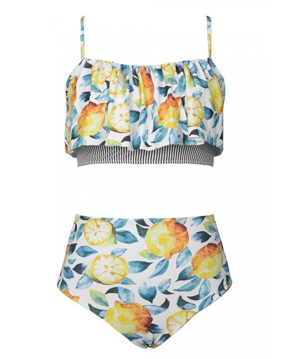 Seaselfie Falbala Reversible Waisted Swimwear