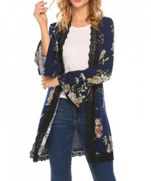 Mofavor Womens Cardigan Patchwork Floral 2