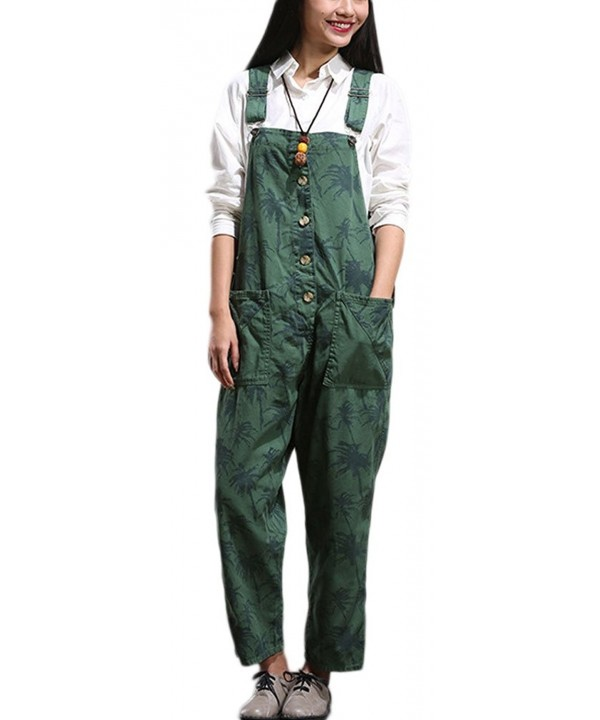 Soojun Pattern Suspender Trousers Overalls