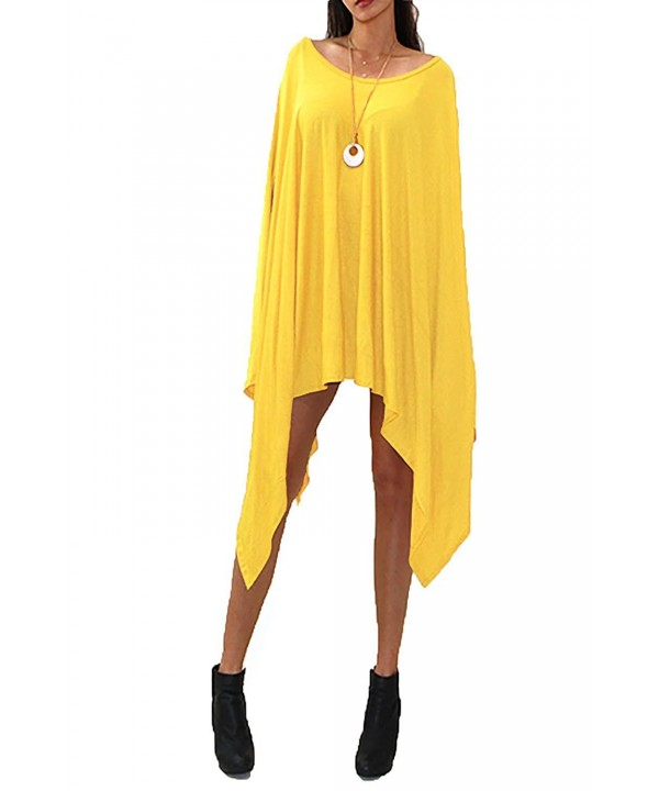 VIVICASTLE Womens Dolman Poncho Yellow