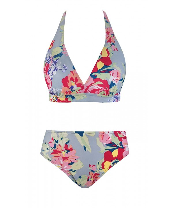 Womens Padded Bikini Floral Bandeau