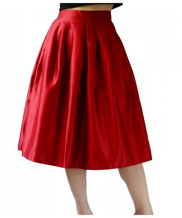 YSJ Womens Skirt Line Pleated