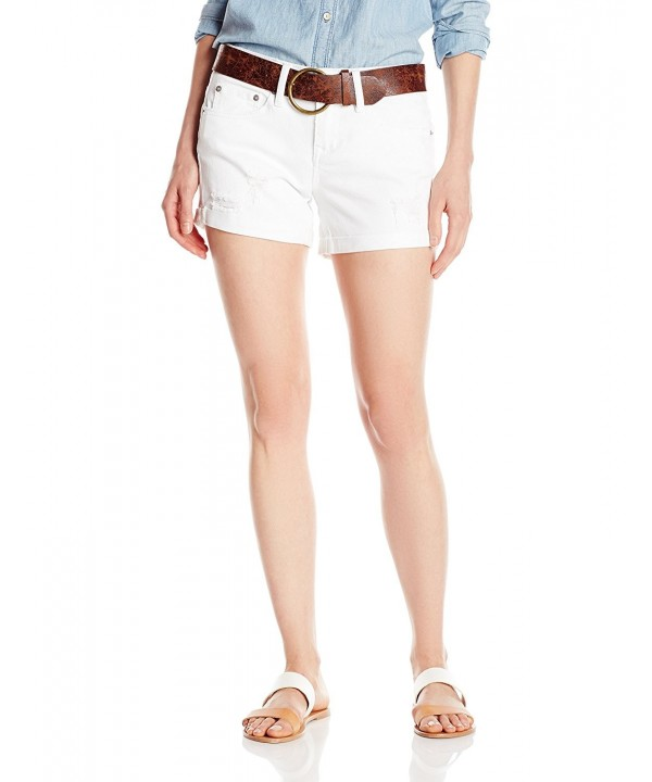 dollhouse Womens Belted Shorts Destruction