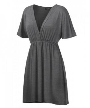 WDR1338 Womens Sleeve Kimono Heather_Charcoal