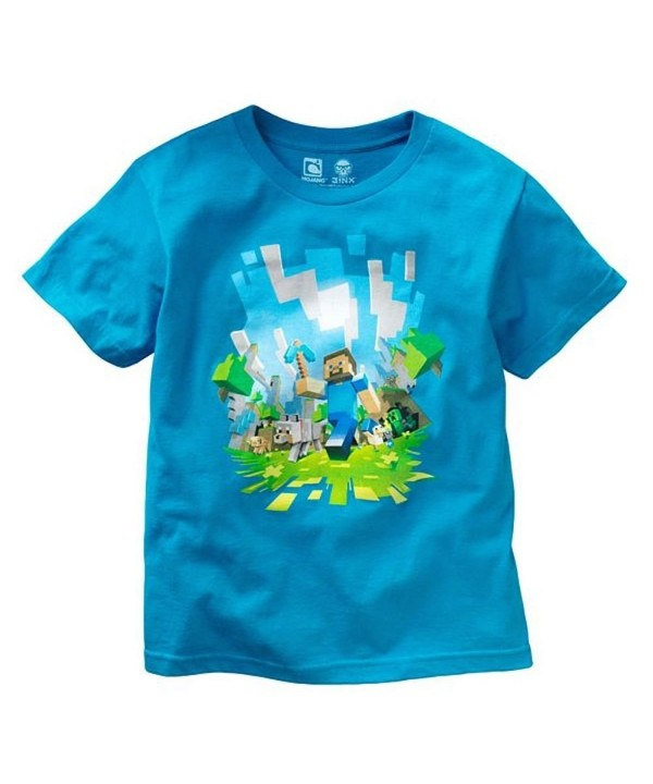 Minecraft Adventure Youth T shirt Turquoise