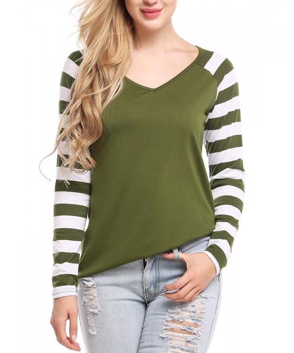 ELESOL Womens Raglan Striped T Shirt