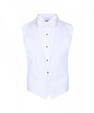 White Pique Vest Self Tie Fits