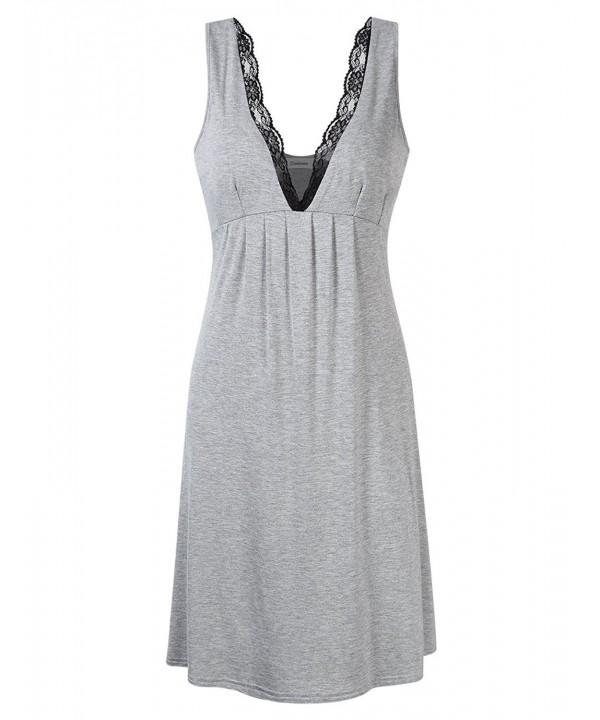 Coolmee Sleeveless Nightgown Sleepwear Babydoll