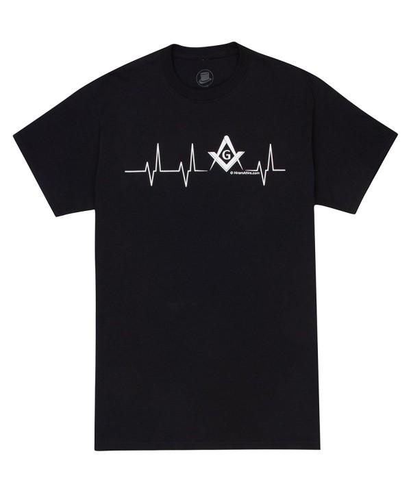 HiramAttire Masonic T Shirt Freemason Heartbeat