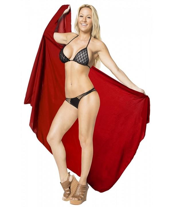 e7d066d3ad ... Wrap Bikini Cover up Womens Skirt Swimsuit Swimwear - Feminine Red -  CZ126C6JNAJ. On sale! New. Leela Sarong Bathing Beach Swimsuit