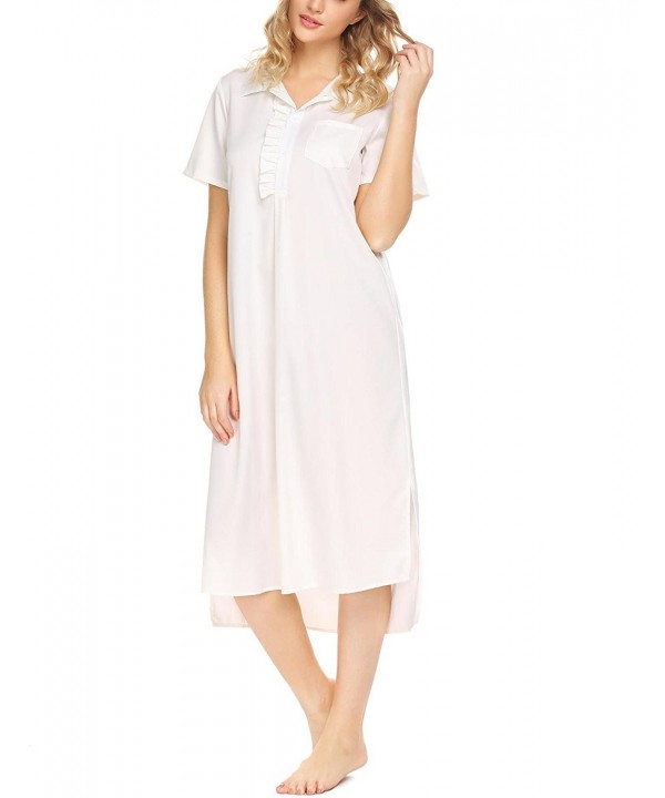 Acecor Cotton Nightdress Victorian Sleepwear