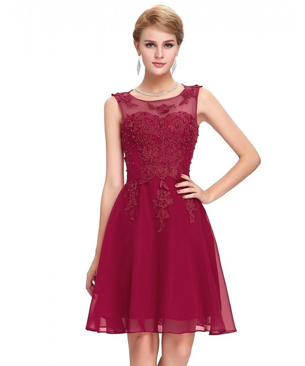 Womens Appliques Formal Party Beading