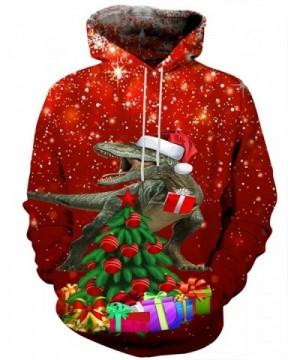 Hgvoetty Hoodies Tops Drawstring Christmas Sweatshirt