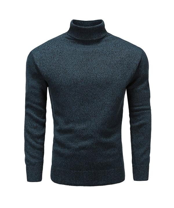 Turtleneck Sleeve Pullover Cotton Sweater