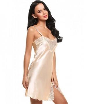 Ekouaer Chemise Nightgown Sleepwear Apricot