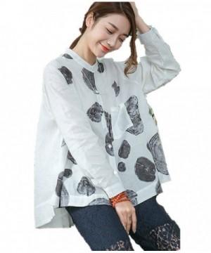 YESNO Button Down Shirts Blouse Hemline