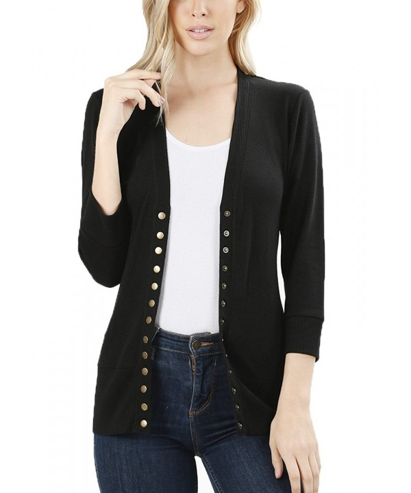 JNTOP Womens Sleeve Cardigan Sweater