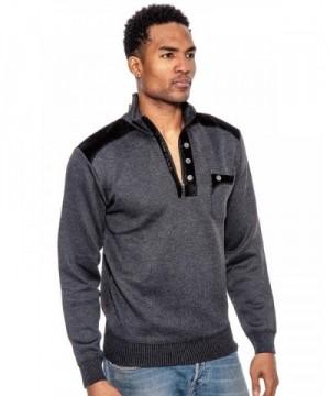 True Rock Mens Pullover Sweater Black Large