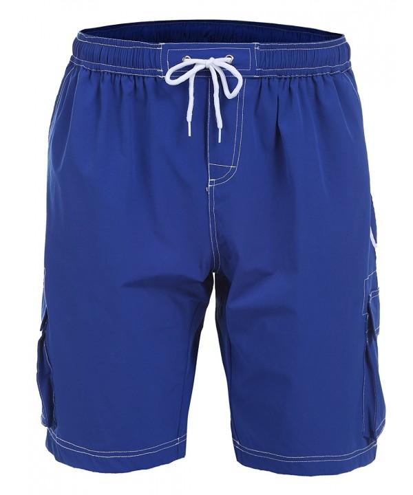 333aabd9bc Mens USA Flag Swim Trunk Casual Elastic Waist Board Shorts - Blue ...
