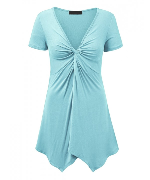 Lock and Love LLWT1359 AQUA M Tunic