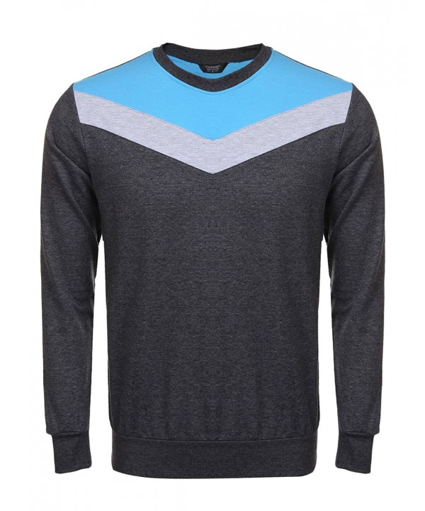 COOFANDY Crewneck Sweatshirt Pullover T Shirt