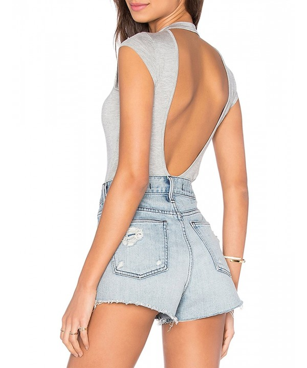 May Maya Womens Cut Out Bodysuit