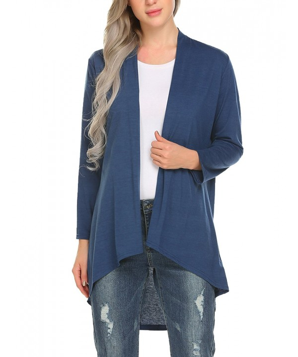 Mofavor Womens High Low Irregular Cardigan