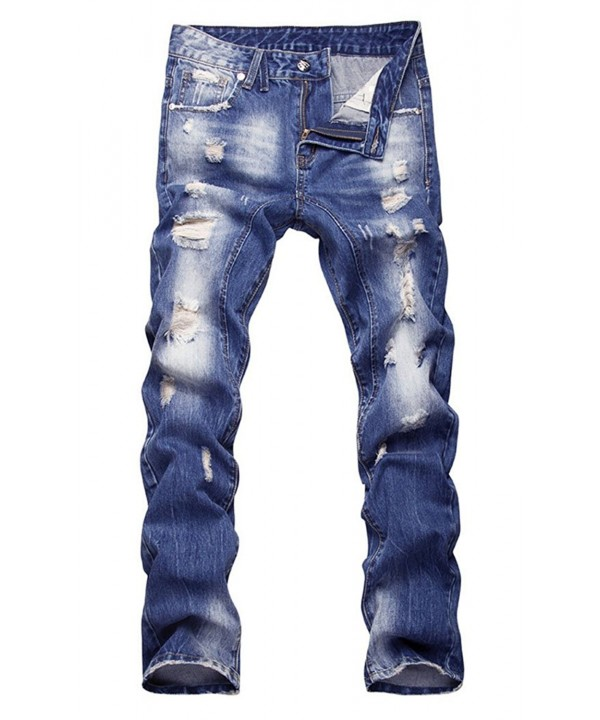 Mens Ripped Faded Slim Jeans