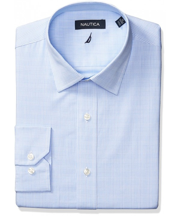 Nautica Plaid Spread Collar Sleeve