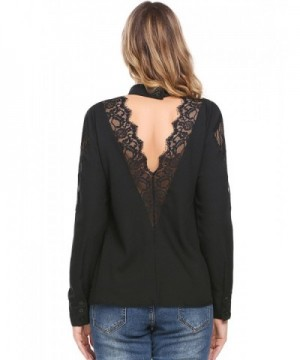 Easther Chiffon Backless Patchwork Blouses