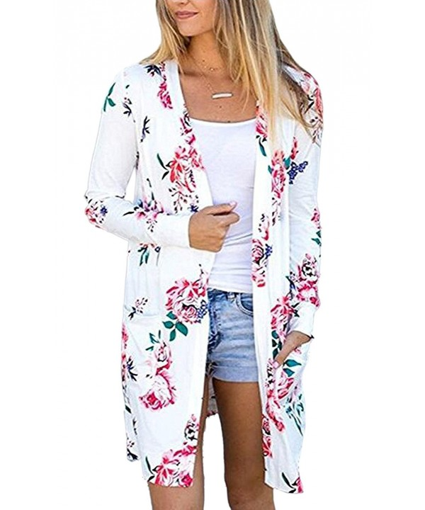 Womens Sleeve Floral Cardigans Casual