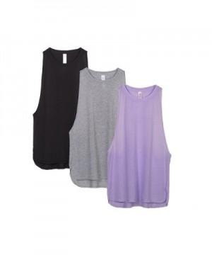icyzone Activewear Workout Racerback Lavender