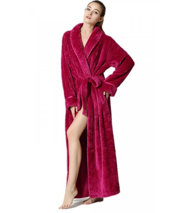 Ibeauti Womens Fleece Microfiber Bathrobe
