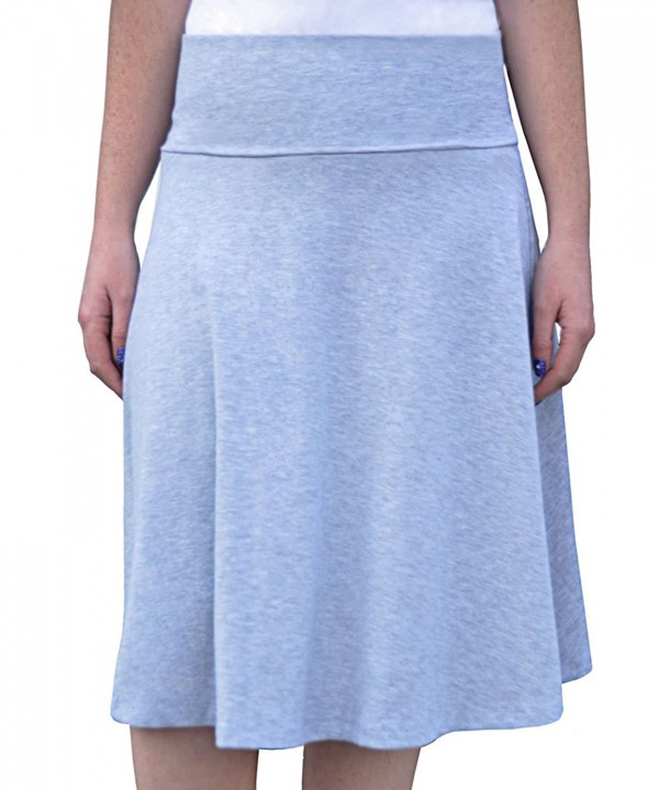 Womens Modest Length Skater Heather