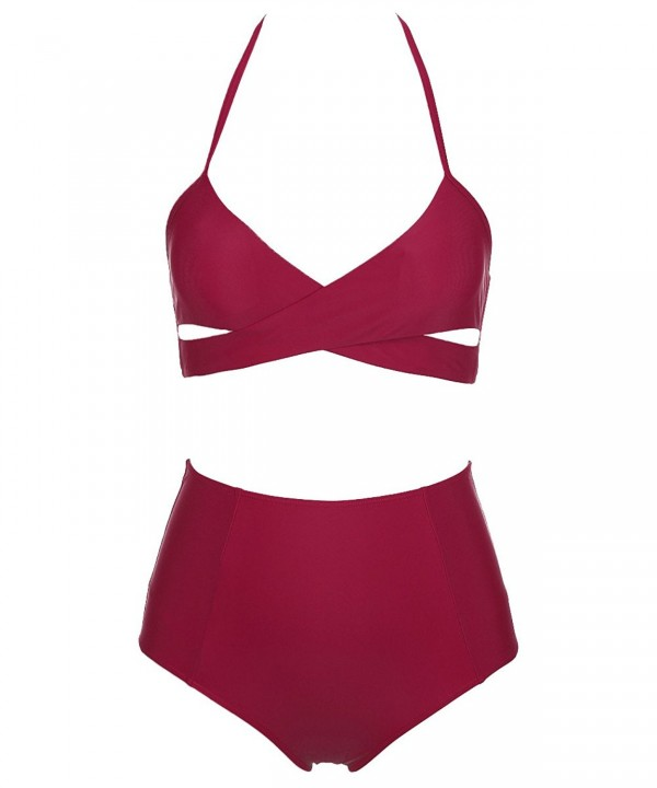 SWIMANDTAN Halter Bikini Bandage Swimsuit