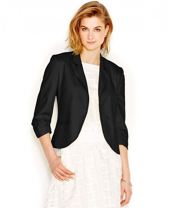 Bar III Womens Sleeves Blazer